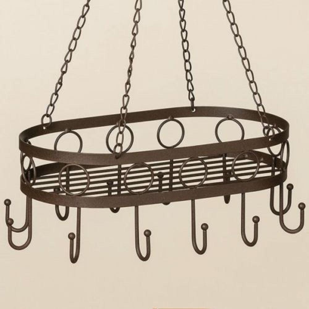 hängekorb aus metall mit haken, braun - homely home - schöne