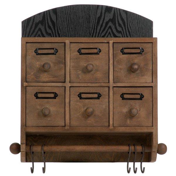 h ngeschrank mit 6 schubladen von j line homely home sch ne artikel f r dein zu hause. Black Bedroom Furniture Sets. Home Design Ideas